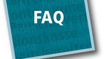 Logo »FAQ« | ver.di FilmUnion