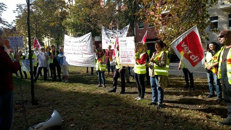 Streik bei Vitanas Glückstadt