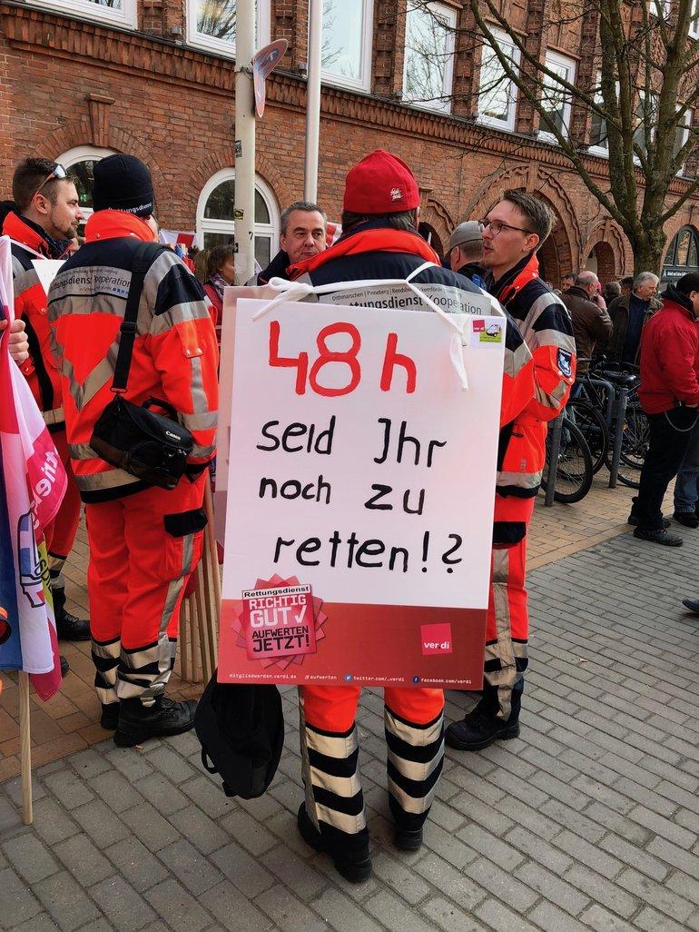 Warnstreik in Kiel