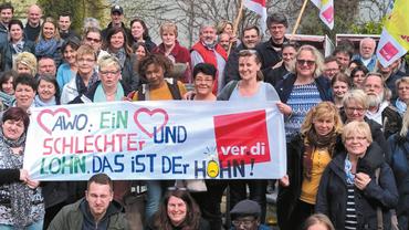 Herzblatt 01 (März 2018) für Kolleginnen und Kollegen bei der AWO Schleswig-Holstein.